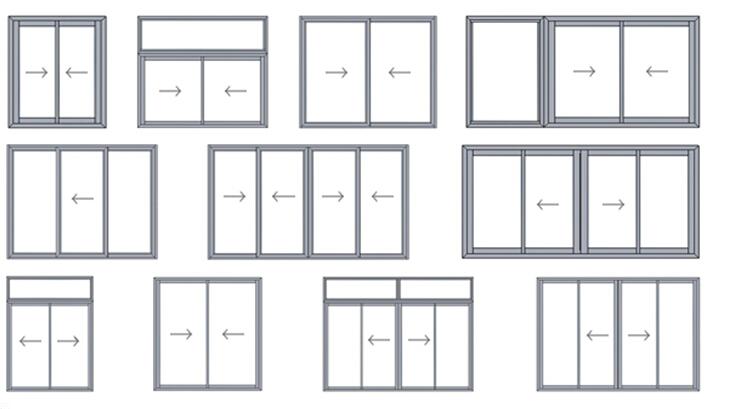 Glass aluminum windows and window grill design with iron for Medidas estandar de ventanas argentina
