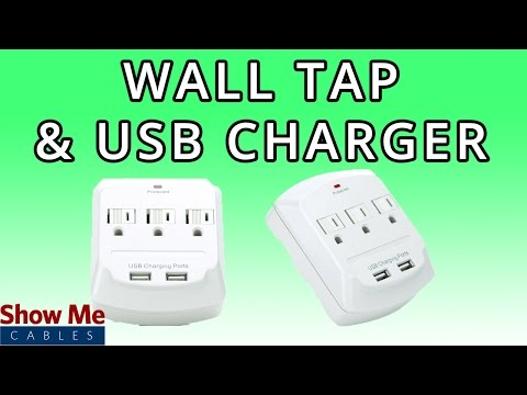 3 Outlet Wall Tap with Dual USB Chargers - Charge Multiple Power & USB Devices