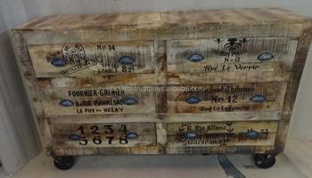 Mobile Credenza Con Ruote : Vintage credenza ruote di ghisa buy pittura
