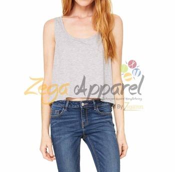835b9f3d563 Zegaapparel Hot Sales boxy crop top Cheap Wholesale women's white tank tops  wholesale