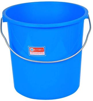 plastic water bucket wash pail flexible laundry bucket with handle