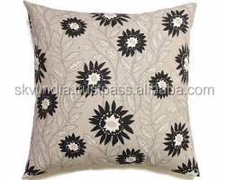 undyed cotton pillow cover printed