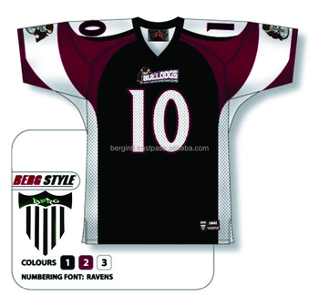 f3141537a3f 2016 new latest design of 100% polyester american football jersey with  embroidery team name and