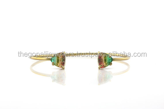 Colorful Gemstone Bracelete, Hydro Multi Tourmaline
