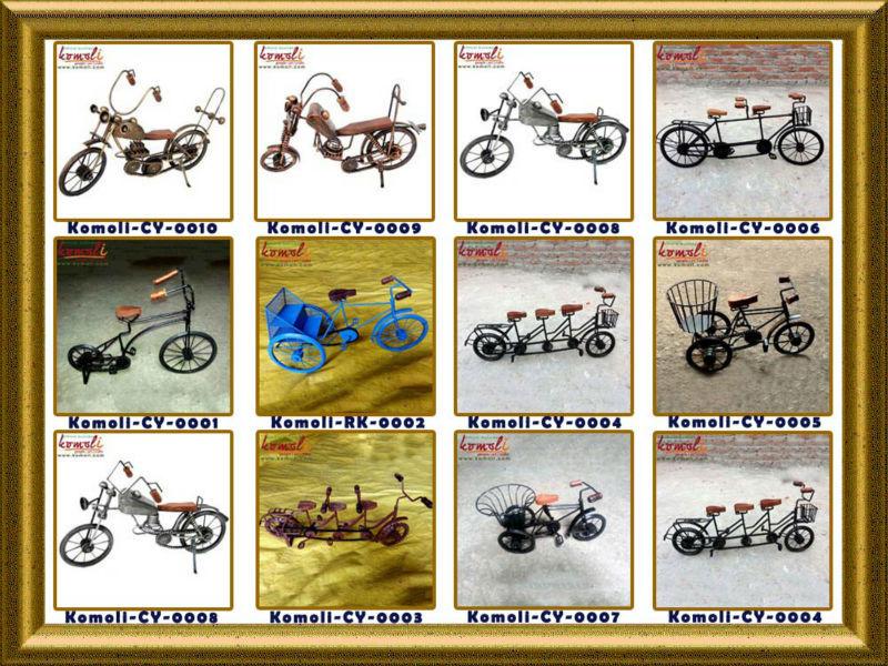 Miniatuur metalen decoratie motorfietsen decoratieve model for Metalen decoratie fiets