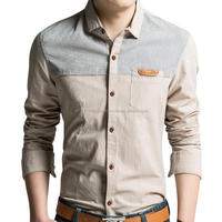 men casual new style 2016 formal double collar cuff shirts in high quality