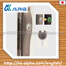 Japanese simple design sliding lock with dimple keyys