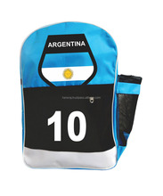 School Bag - Sky Blue, Black & White