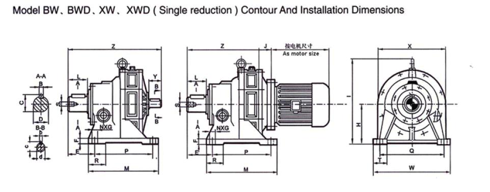 Kết quả hình ảnh cho type: BWD gearbox