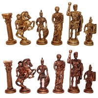 Brass Hand Made Roman Chess Set King Size 3.5