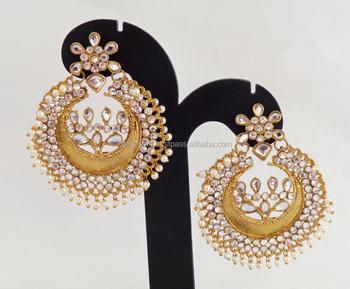 Wholesale kundan chandelier earrings punjabi wedding wear wholesale kundan chandelier earrings punjabi wedding wear chandelier earring indian kundan earring gold aloadofball Choice Image