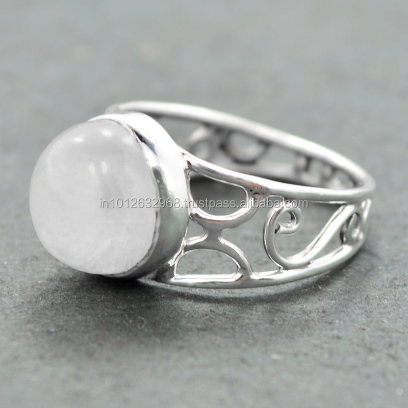 Latest Design Rainbow Moonstone Silver Ring,Father\'s Day/summer ...