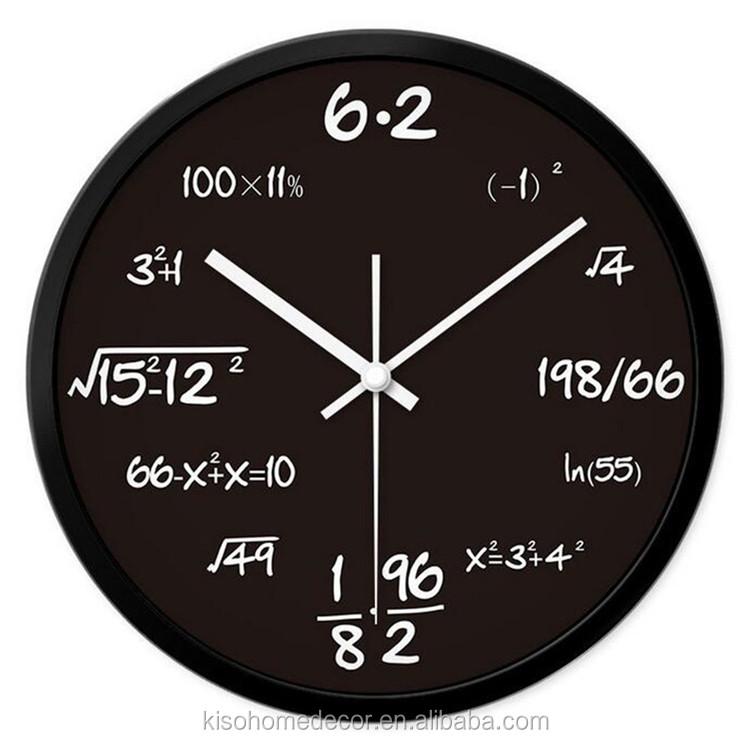 Kreatif Rumus Matematika Modis Ruang Duduk Kamar Tidur Mute Kuarsa Jam  Dinding 912386a80e