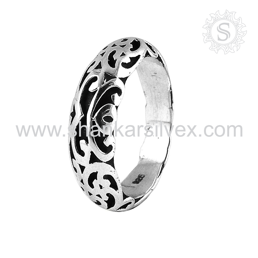 Fine Jewelry Pure 925 Silver Jewelry Engraved Ring Wholesaler Silver Jewelry
