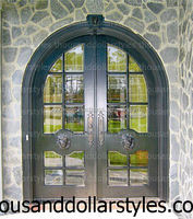 Stylist And Popular Antique Arts & Crafts Mission Exterior Large Two Panel Glass Country Door Collection