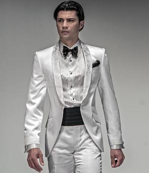 2017 White Mens Wedding Suit - Slim Fit Suits Men Wedding Suits ...