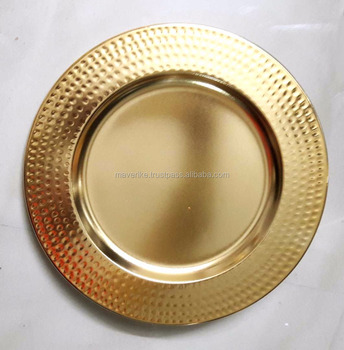 Beau Decorative Wedding Table Gold Charger Plate