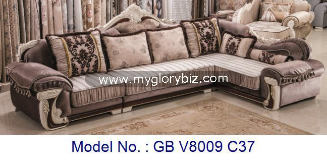 Traditional Wooden Fabric L Shape Corner Sofa Set With Luxury Design Suitable For Home Living Room High Cl Furniture