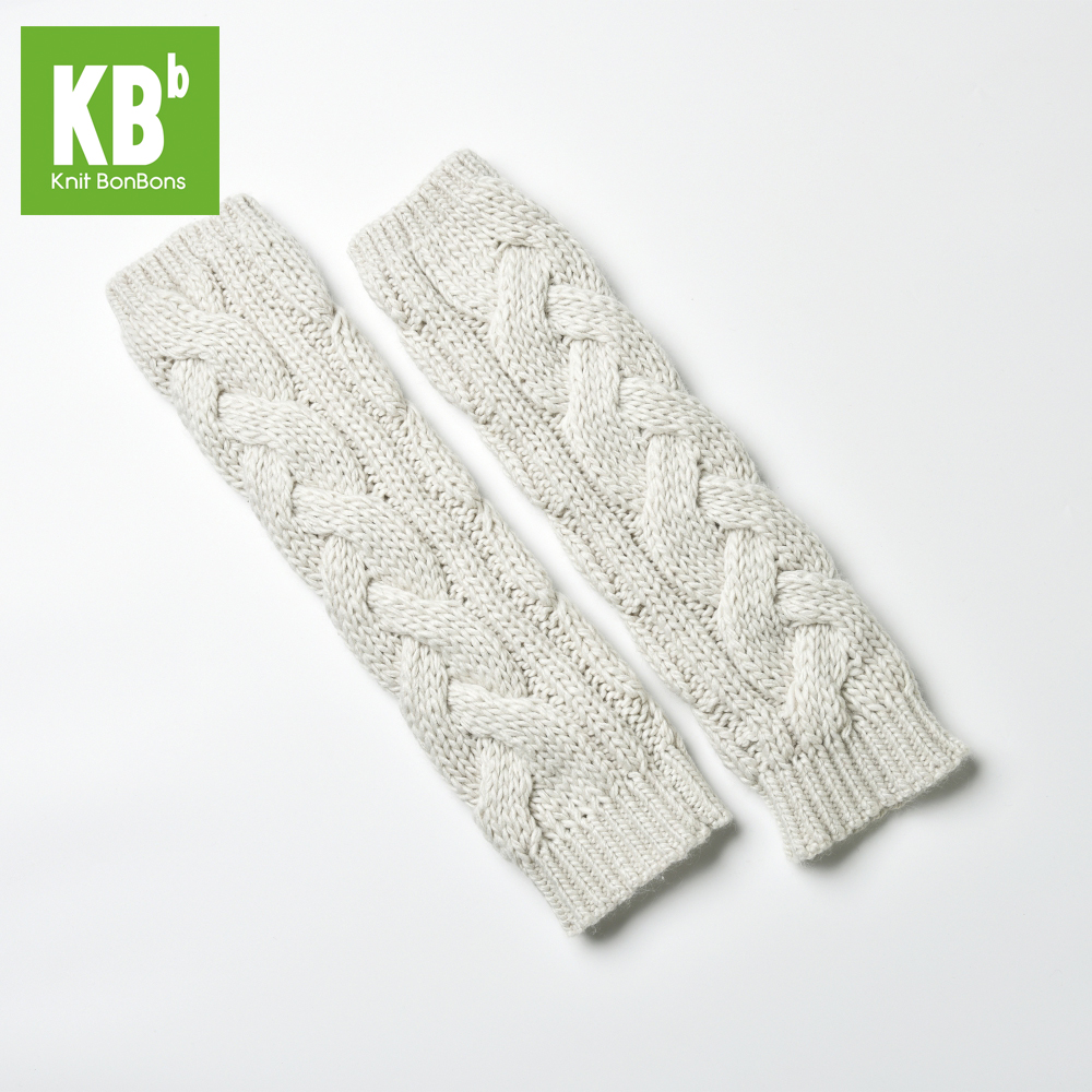 Fashion Custom Made 100% Acrylic Cable Winter Adult Knitted Arm Warmer