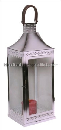 metal outdoor / large clear glass hurrican / hurricane candle holder lanterns manufacture