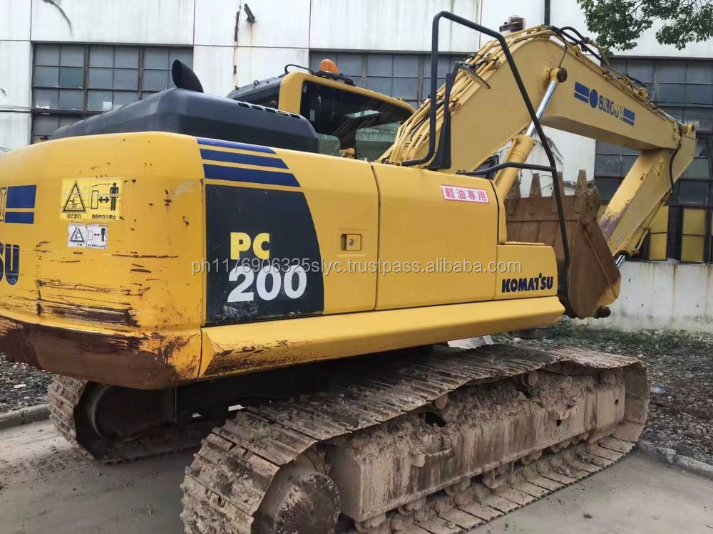 Used komatsu PC200-8 used construction equipment 20 ton hydraulic excavator