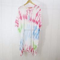 Fashion beach wear Casual dress Tie dye Dresses