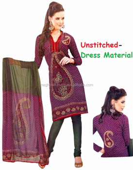 c595065c03 Office wear Printed Salwar Kameez - Crepe Material Indian Suit - Designer  Printed Dress Material -
