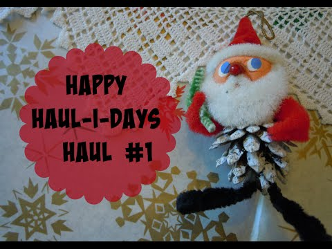 Happy Haul-i-days #1-Vintage Christmas Finds, Christmas Paper & Donald Duck Solar Flower Bargain