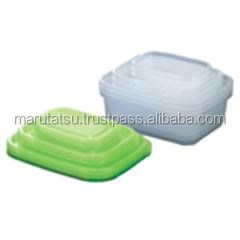 Reliable and Premium plastic yogurt containers Square type 9 pieces set with multiple functions made in Japan