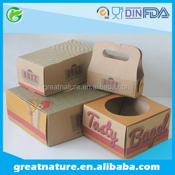 Paper fried chickenand chips box fast food packaging