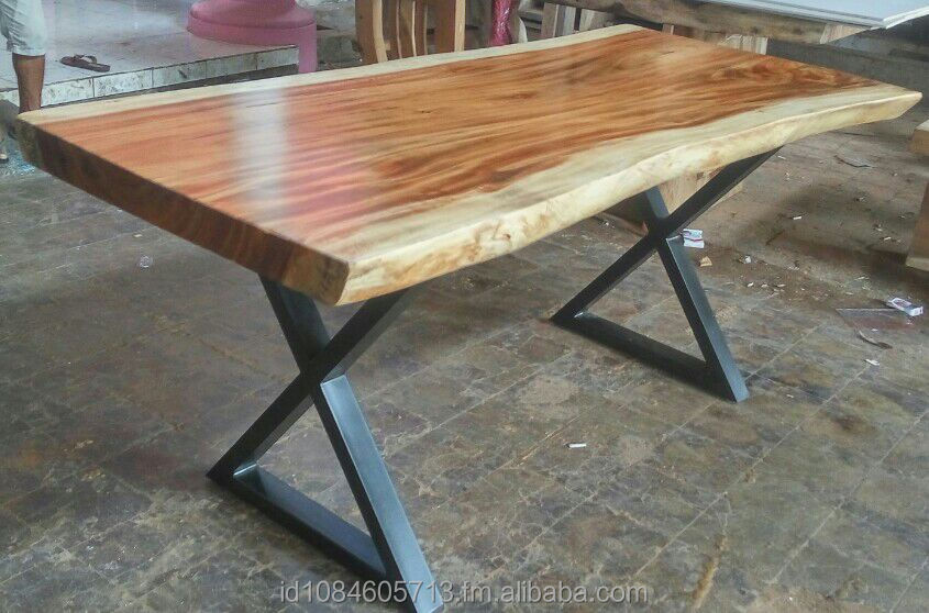 Table Slab With Natural Shape Suar Wood