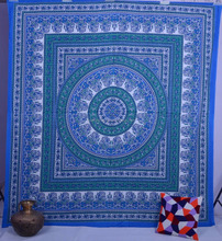 indian jaipur sanganeri 100% cotton hand block printed fabric/bed cover/bed sheet