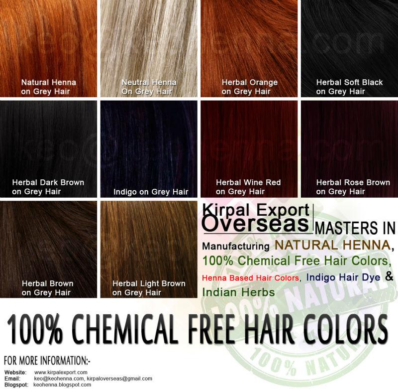 Henna Hair Color Chart