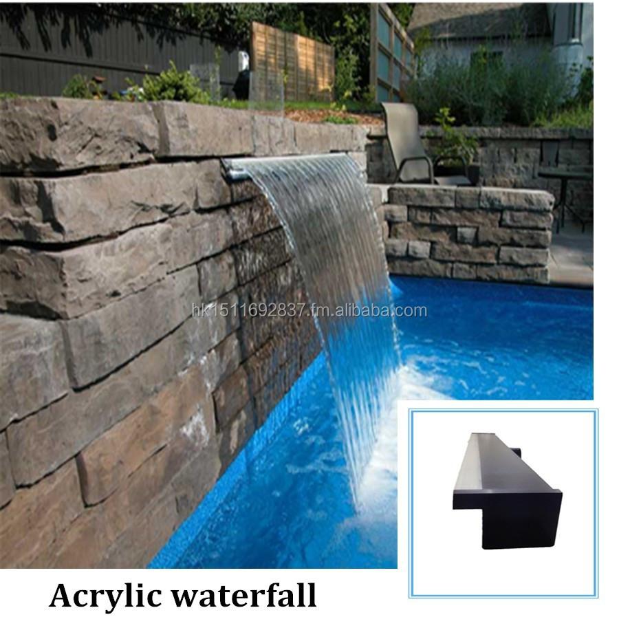 Diy Swimming Pool Waterfall Led Waterfalls Waterblade For Pool Australia Standard Buy Acrylicl Waterfall Product On Alibaba Com