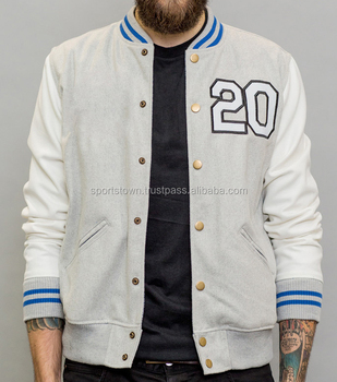 Hot Design Unisex College Style Wool Varsity Baseball Jacket With ...