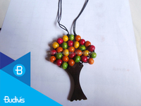 Wooden Bead Tree Jewelry Necklace 2016