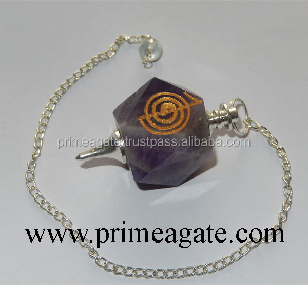 Amethyst Reiki Engraved Pendulum | Buy Wholesale pendulums INDIA