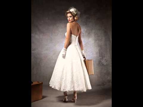 Tea Length Wedding Dresses - Knee Length Wedding Dresses - Tea Length Wedding Dress