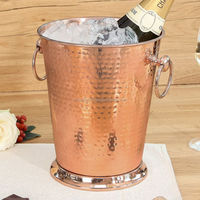 copper hammered tall large wine ice bucket