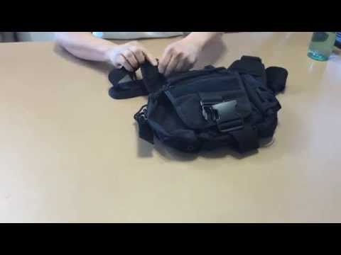 Tactical Messenger Bag - Ergonomic Bag With Shoulder Strap and Bottle Holder