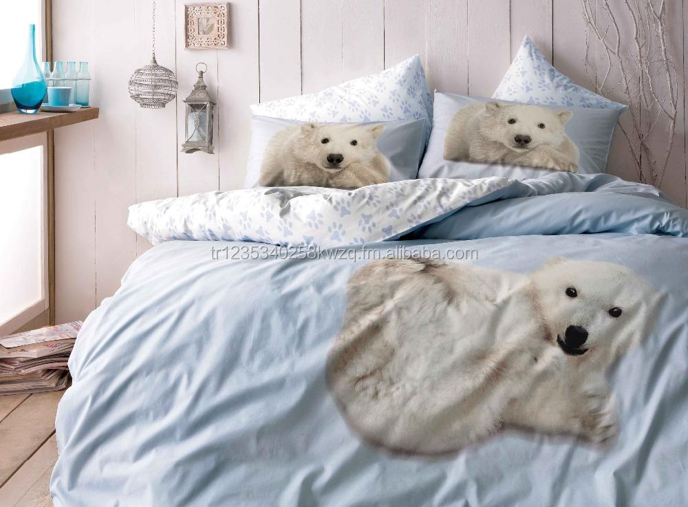 Tac Polar Bear Bedding Set 100 Cotton Doona Quilt Duvet Cover Set