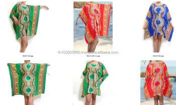 4e51521ccd78 thai rayon HIPPIE BOHO music festival african dashiki hip kimono resort  wear MAXI DRESS cover up