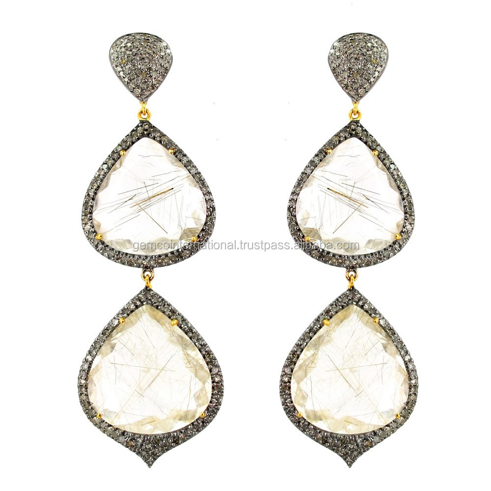 14 Karat Gold Gemstone Jewelry Wholesale Dangle Earrings