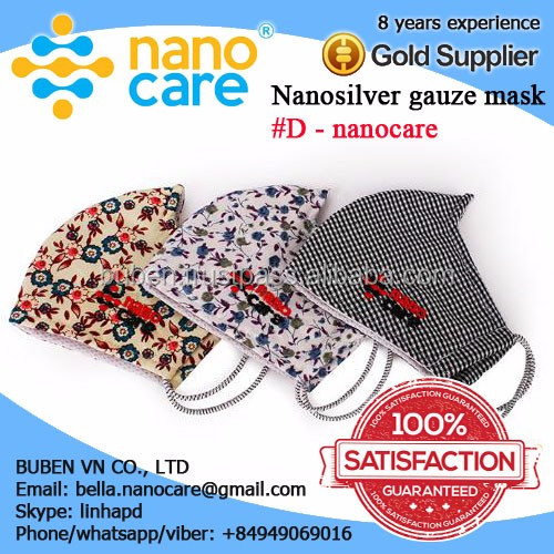 3 Ply Washable Cotton Nano Silver Face Mask Antivirus and antibacterias.