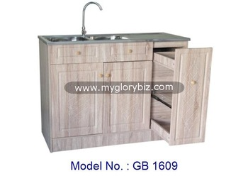 Wooden Kitchen Cabinet, Modern Kitchen Cabinets, Cheap Kitchen Cabinet With  Sink Malaysia