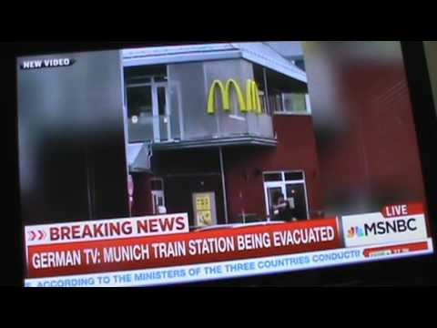 """WHY WAS THERE A CELL PHONE ROLLING BEFORE THE MUNICH MCDONALD'S SHOOTING?"""