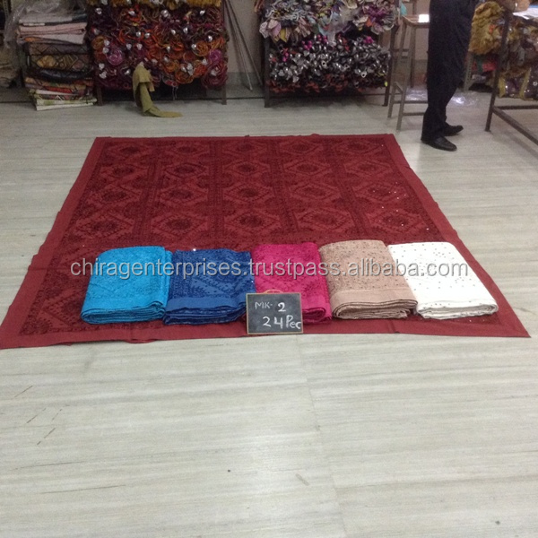 Wholesale Lots of~INDIAN HAND EMBRIODERY MIRROR WORK DECORATIVE BEDSPREADS BEDLINEN~Source directly from factory in INDIA