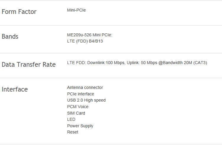 Huawei Me209u-526 Mini Pcie Variant Of Me209u-526 - Buy Lte  Module,Industrial-grade M2m,Me209u-526 Product on Alibaba com
