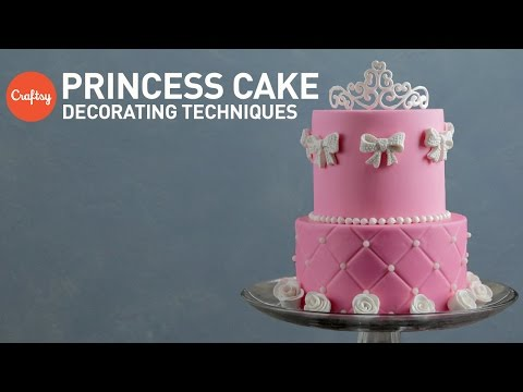 Princess Cake Ideas: Tiara & Rose Sugar Designs | Fondant Cake Decorating Tutorial