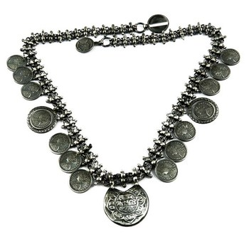Victorian Coin Designs Oxidized Plain Silver 925 Sterling Silver  Necklace,Fashion Silver Jewelry,Silver Jewelry India - Buy Victorian Coin  Designs